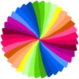 färgspiral royaltyfri illustrationer