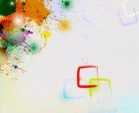 Färgstänk Arkivfoton