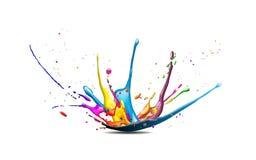 Färgstänk Arkivfoto
