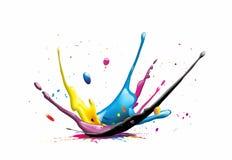 Färgstänk stock illustrationer