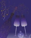 Färgstänk av champagnewine. Glasses.Vector Royaltyfria Foton