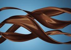 Färgstänk av isolerade brunaktigt varmt kaffe eller choklad fotografering för bildbyråer