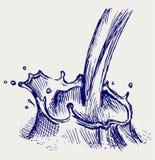 Färgstänk av mjölkar Royaltyfria Bilder