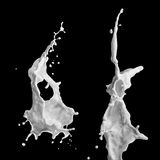 Färgstänk av mjölkar Arkivfoton