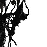 Färgstänk av svart bränsleolja Royaltyfri Fotografi