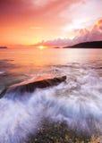 Färgstänk av vågor Arkivbilder