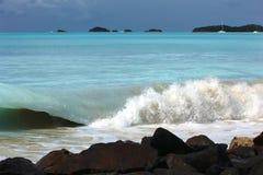 Färgstänk av vatten Arkivfoton