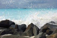 Färgstänk av vatten fotografering för bildbyråer