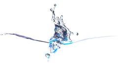 Färgstänk av vatten av psychedelic blåa färger Arkivbilder