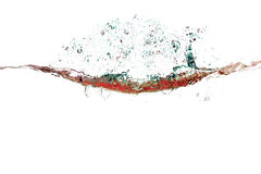 Färgstänk av vatten av psychedelic röda färger Royaltyfria Foton