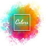 Färgstänk för handmålarfärgvattenfärg på vit bakgrund Arkivfoto