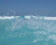 Färgstänk för havhavsvatten Arkivfoton