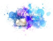 Färgstänk för julförsäljningsabstrakt begrepp royaltyfri illustrationer