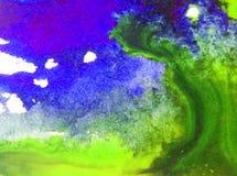 Färgstänk för stormen för vågen för havet för bakgrund för vattenfärgkonstabstrakt begrepp texturerade ny härlig för överflödkaos