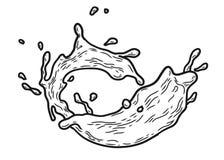 Färgstänk mjölkar skissar vektor illustrationer