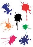 färgstänk spots vektorn royaltyfri foto