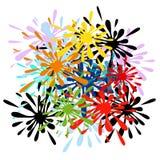 Färgstänk-vektor royaltyfri illustrationer
