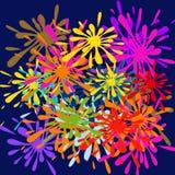 Färgstänk-vektor vektor illustrationer