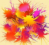 Färgstänk-vektor stock illustrationer