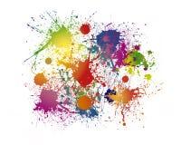 Färgstänkbakgrund arkivfoto