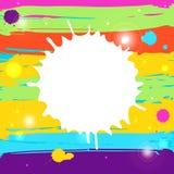 Färgstänkbakgrund Royaltyfri Illustrationer