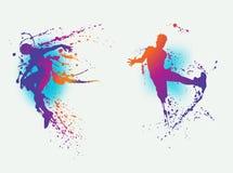 Färgstänkdansare fotografering för bildbyråer