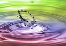 färgstänkvatten Fotografering för Bildbyråer