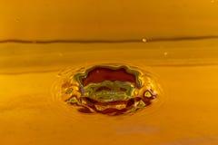 Färgstänkvatten - krater Arkivbilder