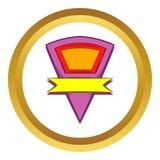 Färgstandert med den gula bandvektorsymbolen Arkivbild