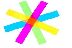 färgstjärna Royaltyfri Fotografi