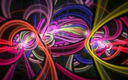 färgswirls Arkivbilder