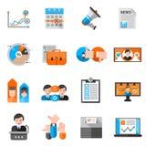 Färgsymboler för att rösta för val stock illustrationer