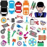 Färgsymboler för garage Royaltyfri Foto
