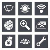 Färgsymboler för uppsättning 46 för rengöringsdukdesign Arkivfoton