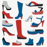 Färgsymboler - skor - illustration Royaltyfri Fotografi