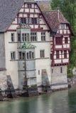 Färgtak Stein am Rhein Schweiz Arkivbilder