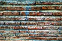 Färgtegelstenvägg Arkivfoto
