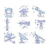 Färguppsättning av symbolen för vektorutrymme Fotografering för Bildbyråer