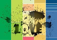 färgvägg Royaltyfria Foton
