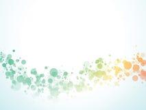 Färgvågen bubblar bakgrund royaltyfri illustrationer
