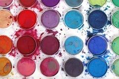 färgvatten Arkivbilder