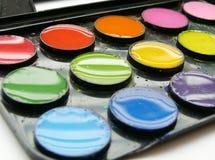 färgvatten Arkivfoton