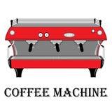 Färgvektorillustration av kaffemaskinen royaltyfri illustrationer