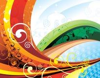 färgvektorwaves Royaltyfri Bild