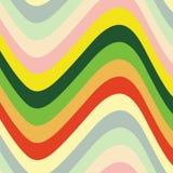 färgwaves Vektor Illustrationer