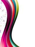 färgwaves Arkivbild