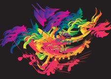 färgwind Vektor Illustrationer