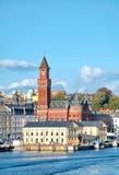 Färja från Helsingor till Helsingborg royaltyfria foton