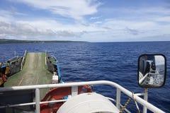 Färja från Nuku'alofa, Tongatapu till Eua Royaltyfria Foton