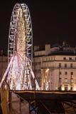 Färja hjulet vid natt, Marseille, Frankrike Royaltyfria Bilder